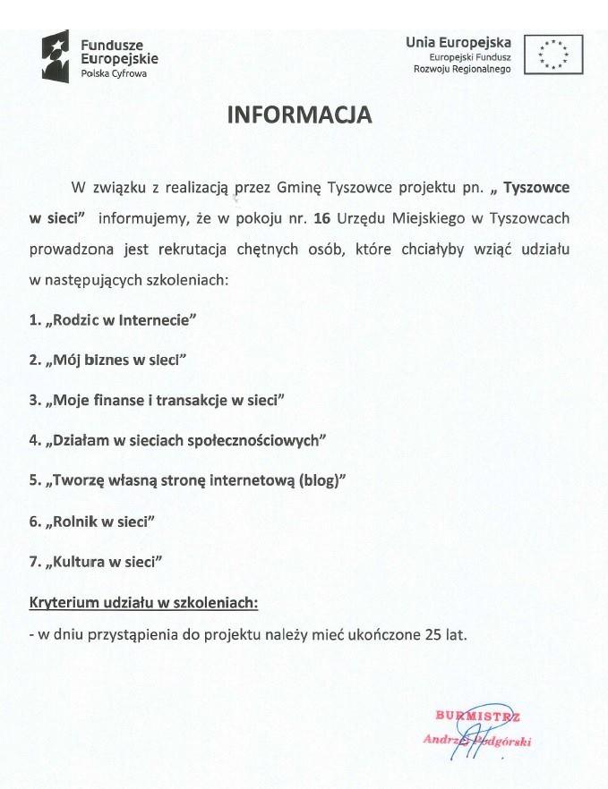Gmina Tyszowce Oficjalny Portał Samorządu